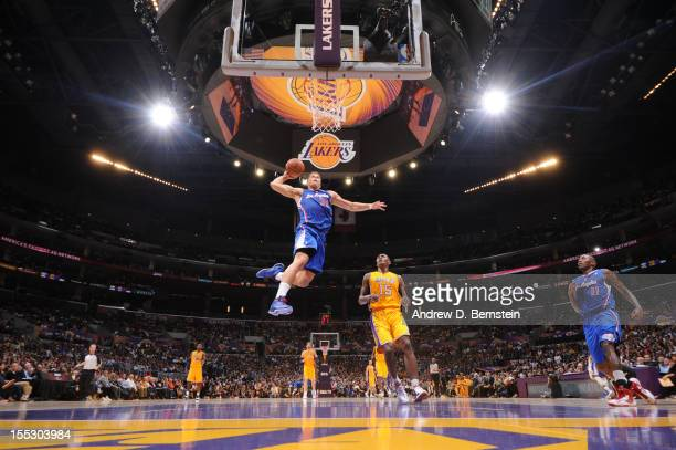 Blake Griffin of the Los Angeles Clippers dunks against the Los Angeles Lakers during a game at Staples Center on November 2 2012 in Los Angeles...