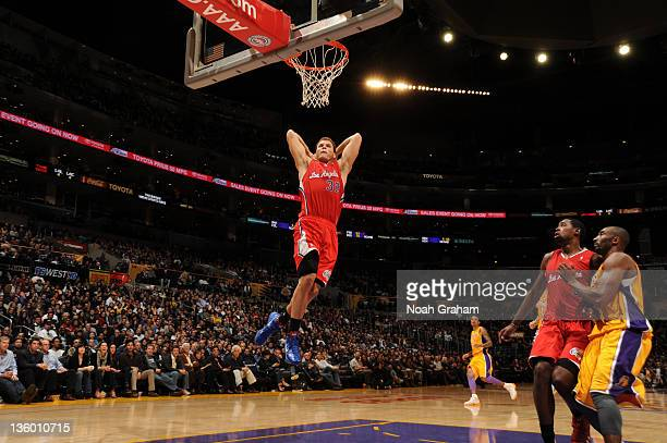 Blake Griffin of the Los Angeles Clippers dunks against the Los Angeles Lakers at Staples Center on December 19 2011 in Los Angeles California NOTE...