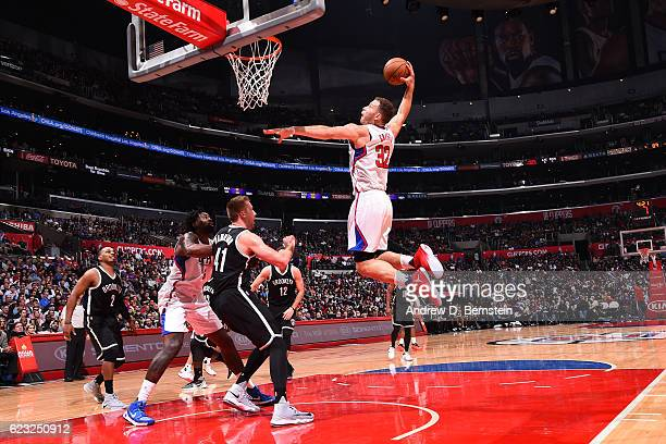 Blake Griffin of the Los Angeles Clippers goes to the basket against the Brooklyn Nets on November 14 2016 at STAPLES Center in Los Angeles...