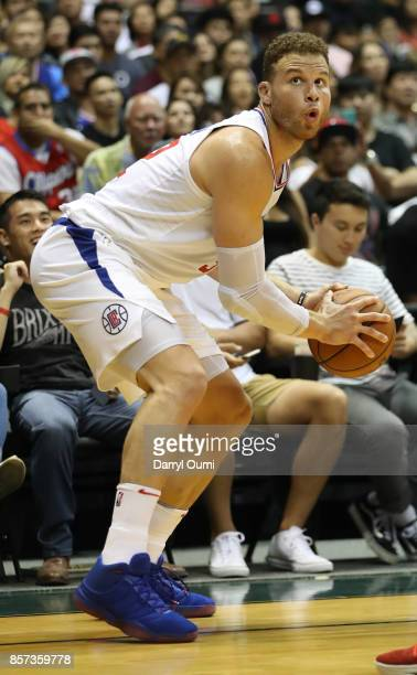 Blake Griffin of the Los Angeles Clippers in action during the third quarter of the game against the Toronto Raptors at the Stan Sheriff Center on...