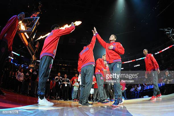 Blake Griffin of the Los Angeles Clippers is seen before the game against the Memphis Grizzlie on April 12 2016 at STAPLES Center in Los Angeles...