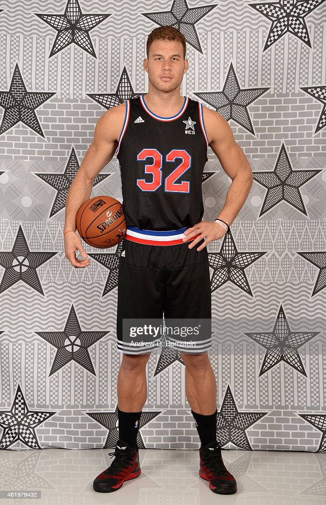 Blake Griffin #32 of the Los Angeles Clippers poses for All Star Starter photos on January 22, 2015 at STAPLES Center in Los Angeles, California.