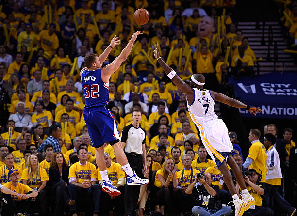 Blake Griffin of the Los Angeles Clippers vs. Warriors