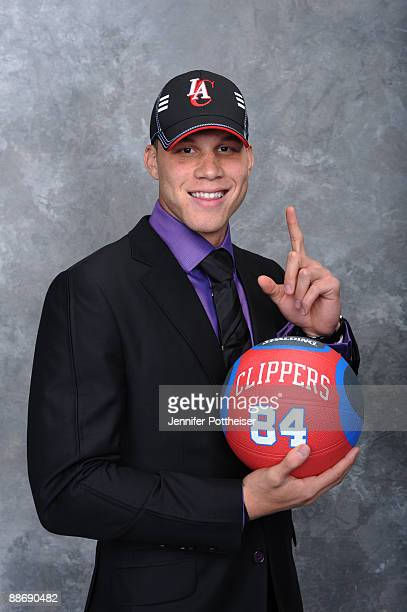 Blake Griffin selected number one overall by the Los Angeles Clippers poses for a portrait during the 2009 NBA Draft on June 25 2009 at the WaMu...