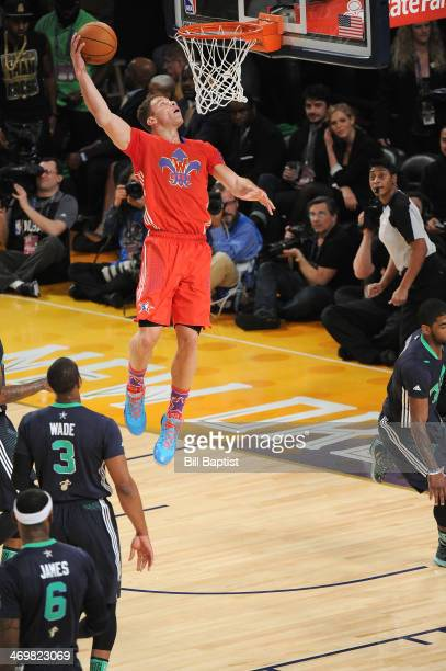 Blake Grifin of the Western Conference AllStars dunks during the 2014 NBA AllStar Game at Smoothie King Center on February 16 2014 in New Orleans...