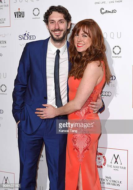 Blake Harrison and Kerry Ann Lynch attend The London Critics' Circle Film Awards at The Mayfair Hotel on January 17, 2016 in London, England.