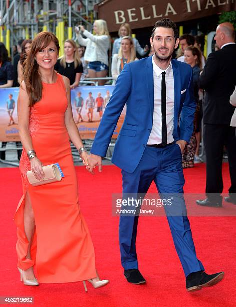 "Blake Harrison and Kerry Ann Lynch attend the World Premiere of ""The Inbetweeners 2"" at Vue West End on August 5, 2014 in London, England."