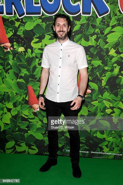Blake Harrison attends the 'Sherlock Gnomes' London Family Gala hosted by Sir Elton John and David Furnish at Cineworld Leicester Square on April 22...