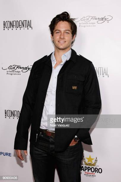 Blake Hood attends Los Angeles Confidential magazine's annual pre-Emmy party, hosted by Heidi Klum and Niche Media CEO Jason Binn, held at a private...