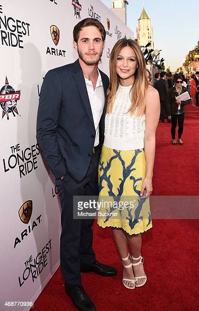 Blake Jenner and actress Melissa Benoist attends the premiere of Twentieth Century Fox's 'The Longest RIde' at the TCL Chinese Theatre IMAX on April...