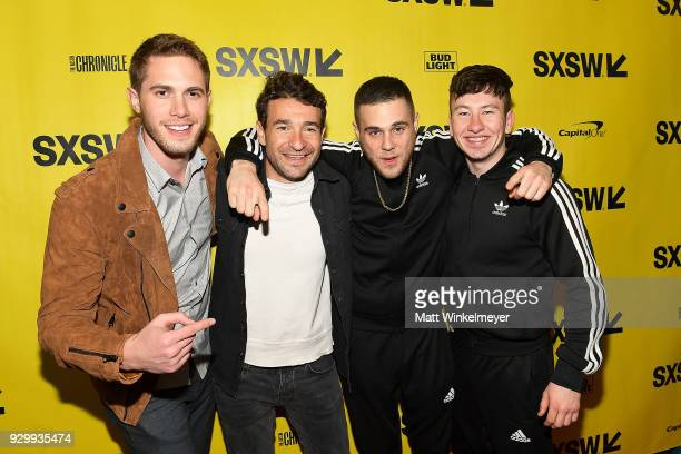 Blake Jenner Bart Layton Jared Abrahmson and Barry Keoghan attend the 'American Animals' Premiere 2018 SXSW Conference and Festivals on March 9 2018...