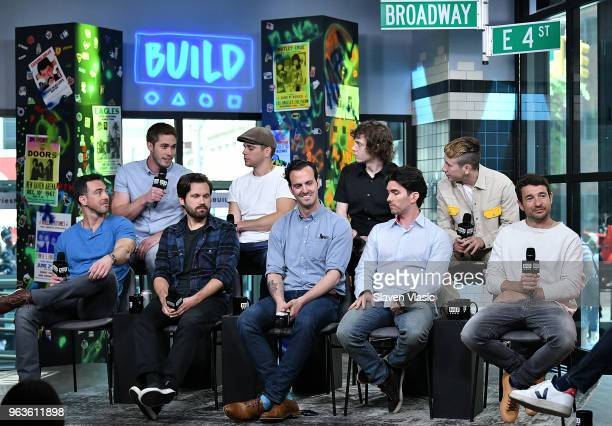 Blake Jenner Eric Borsuk Spencer Reinhard Bart Layton Chas Allen Evan Peters Warren Lipka Barry Keoghan and Jared Abrahamson attend the Build Series...