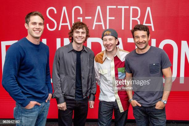 Blake Jenner Evan Peters Barry Keoghan and Bart Layton discuss American Animals during SAGAFTRA Foundation Conversations at The Robin Williams Center...