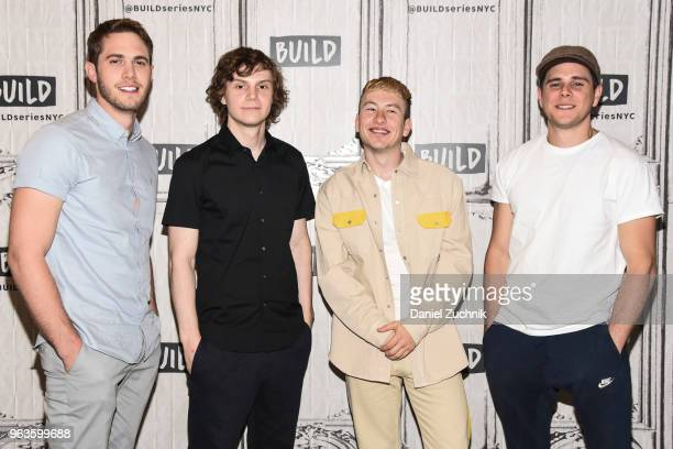Blake Jenner Evan Peters Barry Keoghan and Jared Abrahamson attend the Build Series to discuss the new film 'American Animals' at Build Studio on May...