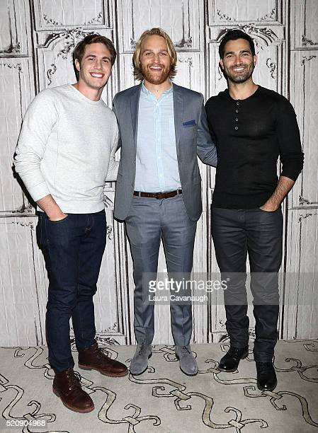 Blake Jenner Wyatt Russell and Tyler Hoechlin attends AOL Build Series to discuss 'Everybody Wants Some' at AOL Studios In New York on April 13 2016...