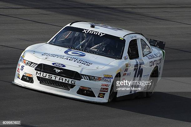 Blake Jones driver of the Global Building Contractors Ford on track during practice for the NASCAR XFINITY Series VysitMyrtleBeachcom 300 at Kentucky...