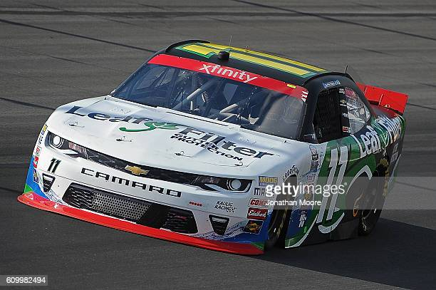 Blake Koch driver of the Leaf Filter Gutter Protection Chevrolet on track during practice for the NASCAR XFINITY Series VysitMyrtleBeachcom 300 at...