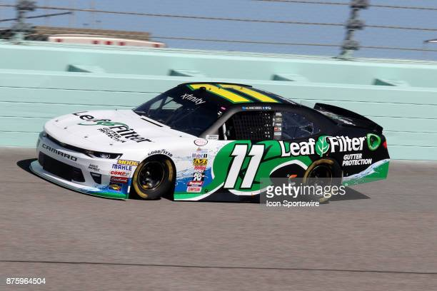 Blake Koch driver of the LeafFilter Gutter Protection Chevy qualifying for the Ford Ecoboost 300 at HomesteadMiami Speedway on November 18 2017 in...