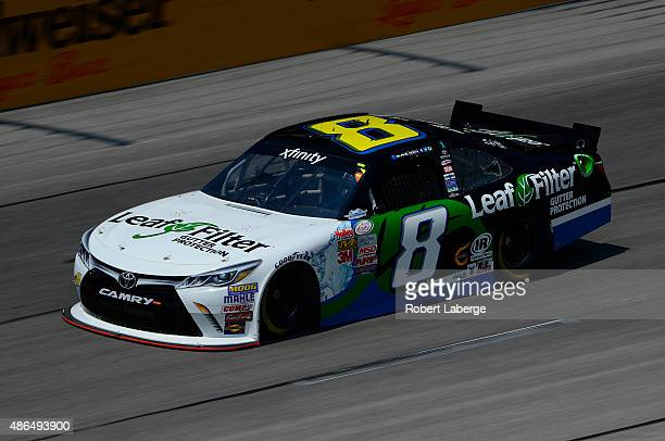 Blake Koch driver of the LeafFilter Gutter Protection Toyota practices for the NASCAR XFINITY Series VFW Sport Clips Help A Hero 200 at Darlington...