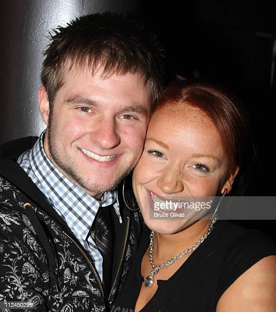 Blake Lewis and Brianna Taylor pose before performing at the Canal Room on June 24 2008 in New York City