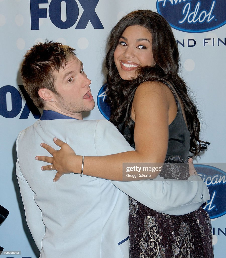 Blake Lewis and Jordin Sparks during 'American Idol' Season 6 Finale - Press Room at Kodak Theatre in Hollywood, California, United States.
