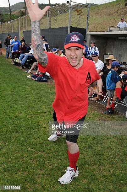 Blake Lewis at the Steve Garvey Celebrity Softball Game for ALS Research at Pepperdine University's Eddy D Field Stadium on July 10 2010 in Malibu...
