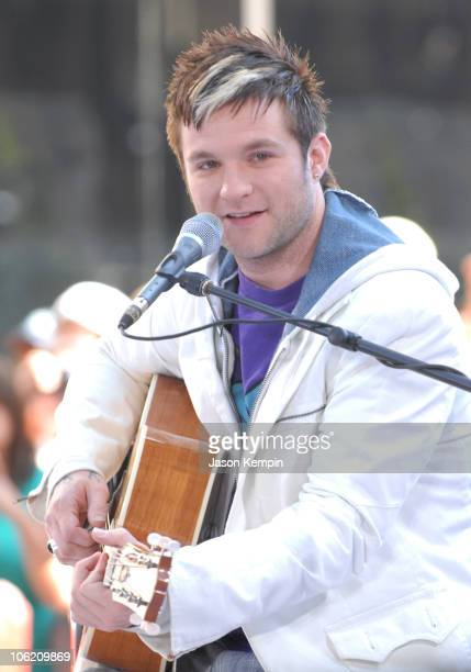 Blake Lewis during Jordin Sparks and Blake Lewis Visit The Today Show May 31 2007 at Rockefeller Center in New York City New York United States