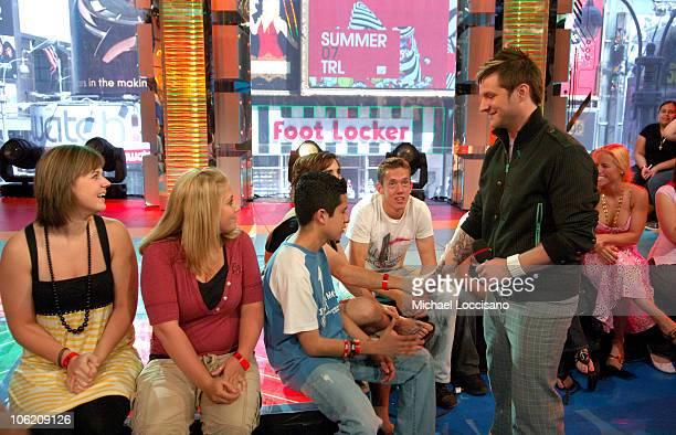 Blake Lewis during Jordin Sparks Blake Lewis and Daddy Yankee Visit MTVs' TRL May 30 2007 at MTV Studios in New York City New York United States