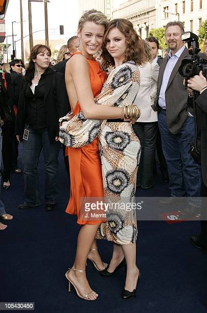 "Blake Lively and Amber Tamblyn during ""The Sisterhood of the Traveling Pants"" Los Angeles Premiere at Grauman's Chinese Theatre in Hollywood,..."