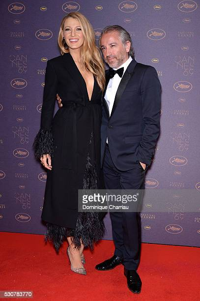 Blake Lively and Cyril Chapuy arrive at the Opening Gala Dinner during The 69th Annual Cannes Film Festival on May 11 2016 in Cannes France