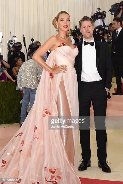 """Blake Lively and designer Christopher Bailey attend the """"Manus x Machina: Fashion In An Age Of Technology"""" Costume Institute Gala at Metropolitan..."""