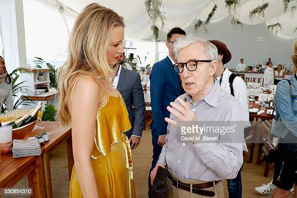 "Blake Lively and director Woody Allen attend the Amazon Studios ""Cafe Society"" press luncheon during the 69th annual Cannes film festival on May 12,..."