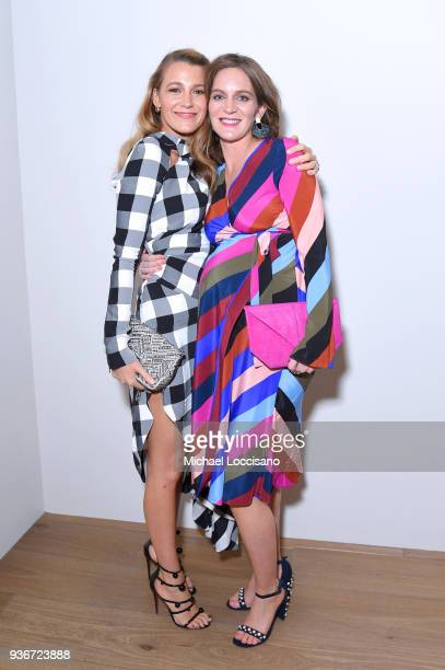 """Blake Lively and Felicity Blunt attend the """"Final Portrait"""" New York Screening After Party at Levy Gorvy Gallery on March 22, 2018 in New York City."""