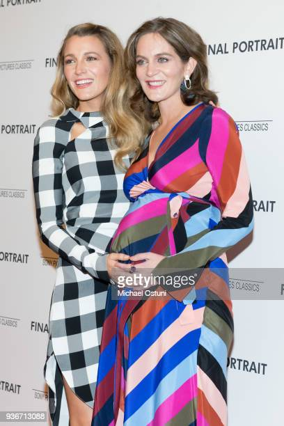 Blake Lively and Felicity Blunt attend the screening of Final Portrait at Guggenheim Museum on March 22, 2018 in New York City.