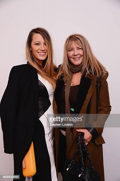 Blake Lively and her mother Elaine Lively pose backstage at the Gabriela Cadena fashion show during MercedesBenz Fashion Week Fall 2015 on February...