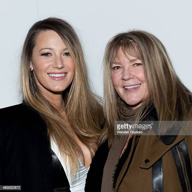 Blake Lively and her mother Elaine Lively pose backstage before the Gabriela Cadena fashion show during MercedesBenz Fashion Week Fall 2015 at One...