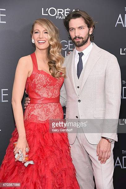 Blake Lively and Michiel Huisman attend The Age of Adaline premiere at AMC Loews Lincoln Square 13 theater on April 19 2015 in New York City