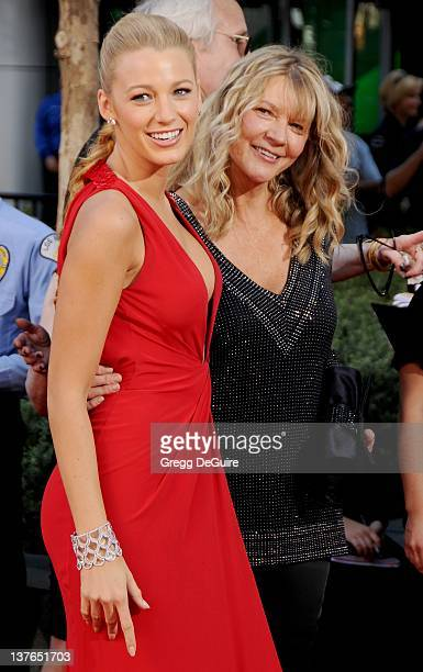 Blake Lively and mom Elaine Lively arrive at the 61st Primetime Emmy Awards held at the Nokia Theatre on September 20 2009 in Los Angeles California