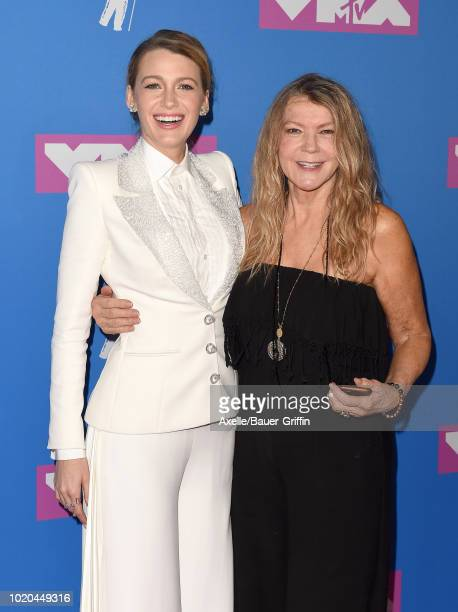 Blake Lively and mom Elaine Lively attend the 2018 MTV Video Music Awards at Radio City Music Hall on August 20 2018 in New York City