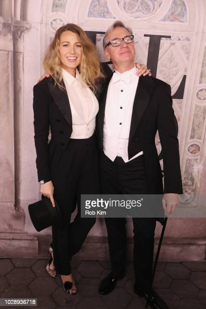 Blake Lively and Paul Feig attend the Ralph Lauren fashion show during New York Fashion Week at Bethesda Terrace on September 7 2018 in New York City