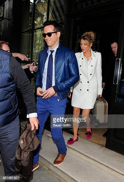 Blake Lively and Ryan Reynolds are seen on June 01 2013 in London United Kingdom