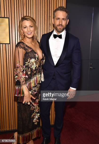 Blake Lively and Ryan Reynolds attend 2017 Time 100 Gala at Jazz at Lincoln Center on April 25 2017 in New York City