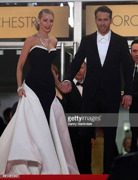 Blake Lively and Ryan Reynolds attend 'Captives' Premiere at the 67th Annual Cannes Film Festival on May 16 2014 in Cannes France