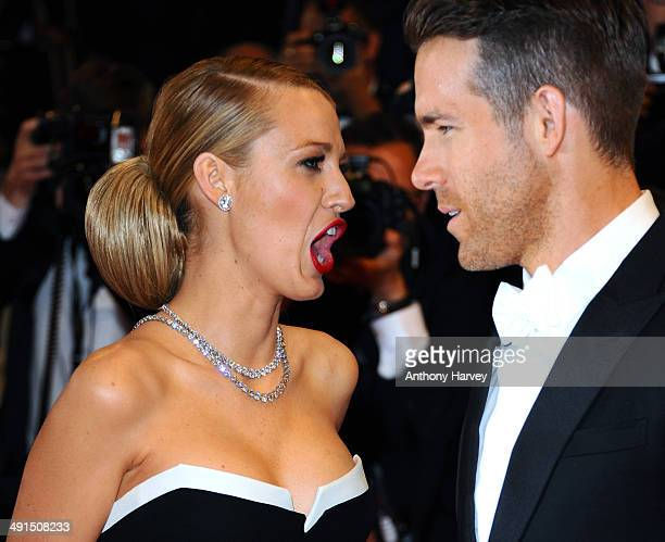 """Blake Lively and Ryan Reynolds attend """"Captives"""" Premiere at the 67th Annual Cannes Film Festival on May 16, 2014 in Cannes, France."""