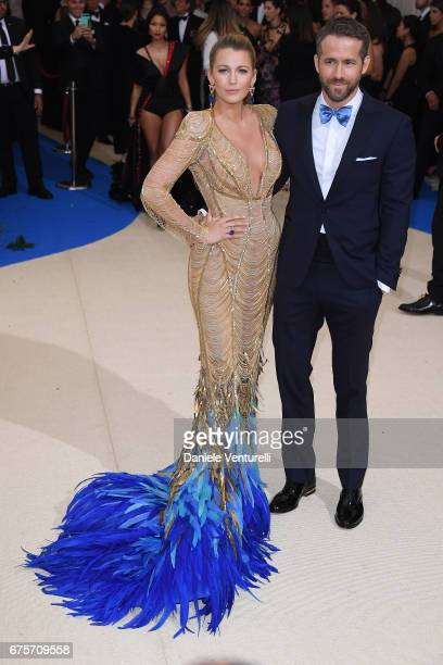 Blake Lively and Ryan Reynolds attend Rei Kawakubo/Comme des Garcons Art Of The InBetween Costume Institute Gala Arrivals at Metropolitan Museum of...