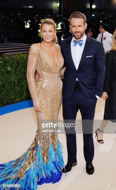 Blake Lively and Ryan Reynolds attend 'Rei Kawakubo/Comme des GarçonsArt of the InBetween' Costume Institute Gala at Metropolitan Museum of Art on...