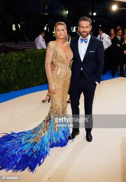 Blake Lively and Ryan Reynolds attend 'Rei Kawakubo/Comme des GarçonsArt of the InBetween' Costume Institute Gala at Metropolitan Museum of Art on...