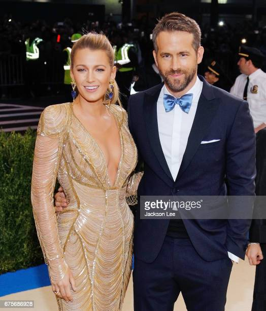Blake Lively and Ryan Reynolds attend 'Rei Kawakubo/Comme des Garçons:Art of the In-Between' Costume Institute Gala at Metropolitan Museum of Art on...