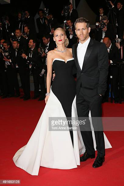 Blake Lively and Ryan Reynolds attend The Captive Premiere at the 67th Annual Cannes Film Festival on May 16 2014 in Cannes France