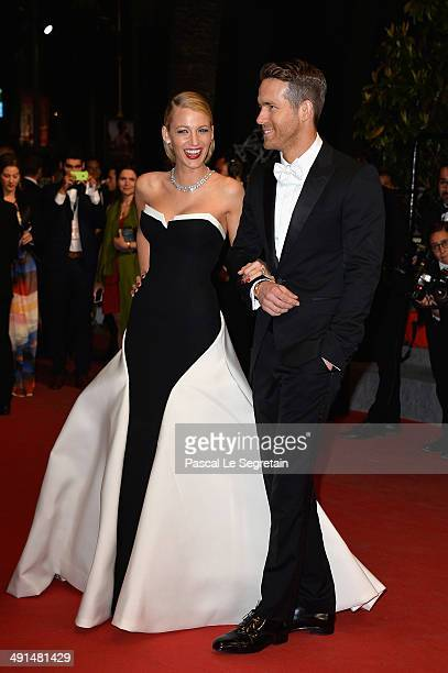 Blake Lively and Ryan Reynolds attend the Captives premiere during the 67th Annual Cannes Film Festival on May 16 2014 in Cannes France